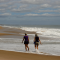 Walking along East Beach in Charlestown Rhode Island
