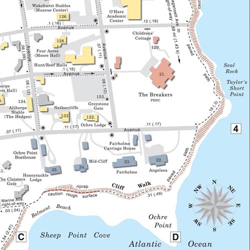 Cliff Walk map